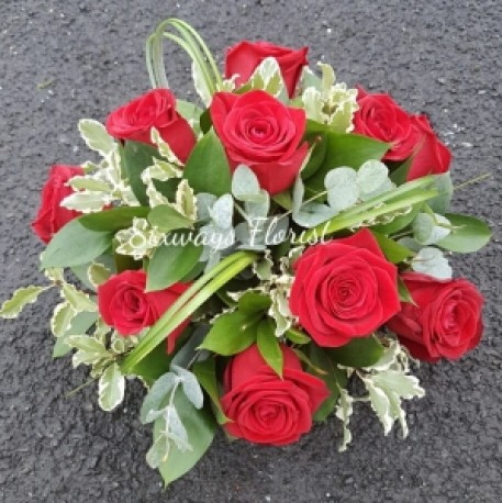 rose funeral posy
