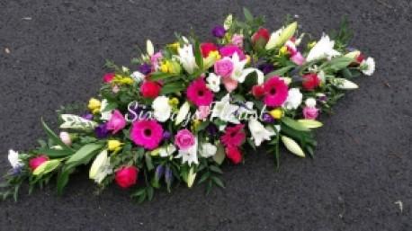 Cerise/pink/ white casket