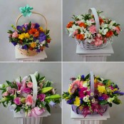 All round basket arrangements