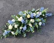 Blue and white casket spr